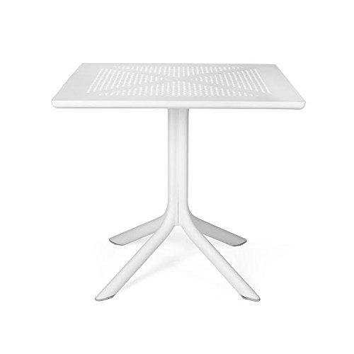 Nardi Tisch Clip weiß 80x 80x 15cm Polypropylen Fiberglass Möbel Garten