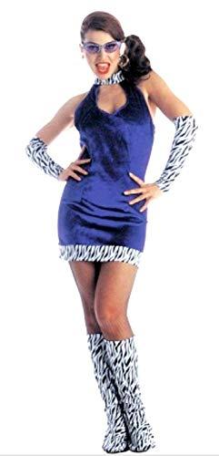 Widmann Kostüm - Mädchen Berühmte VIP Fashion 60er und 70er Jahre Pop Gogo Mädchen Erwachsene Größe M Maskerade - Karneval - Halloween - - Berühmten 70er Jahre Kostüm
