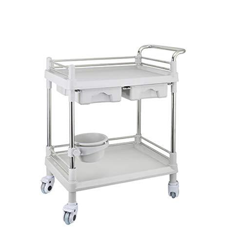 Trolleys Schwere Medizinische Laborausrüstung Wagen/Wagen Beauty Salon Werkzeugwagen Mit Universalrad Für Labor, Beauty Salon, Klinik, Krankenhaus (größe : M(L64.5xW44.5xH98cm))