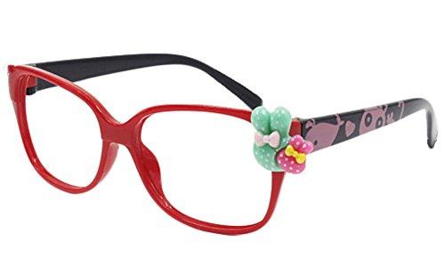 Nette Brillengestelle für Kinder Schwarz Rot NO LENS