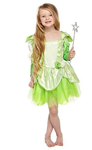 Fancy Me Mädchen-grün Garten Pixie Fee Märchen Halloween Kostüm Kleid Outfit 4-12 Jahre - Grün, 10-12 - Kind Garten Fee Kostüm Mit Flügel