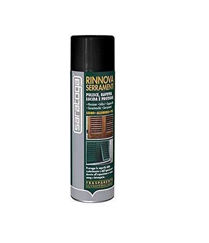 Rinnova serramenti pulisce ravviva lucida e protegge legno,alluminio saratoga