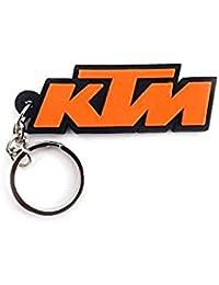 B TO B TRADERS KTM Bike Logo Silicone Keychain Orange Colour
