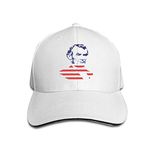 Abraham Kostüm Herren Lincoln - Xunulyn Unisex Women Cotton Adjustable Baseball Caps Low Profile Washed Dad Hats Silhouette Abraham Lincoln Texture national Flag United States Silhouette