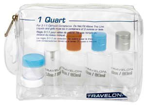Travel Accessories Travelon 1-Quart Zip Bag with Plastic Bottles by Travelon