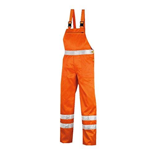 teXXor Warnschutz-Latzhose Hamilton Arbeitshose, 64, orange, 4304 - Hamilton Streifen