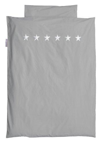 TAFTAN DS-210 Sternen Silber Bettwäsche Set für klein Bett, 100 x 135 cm, in 3 farben verfügbar -