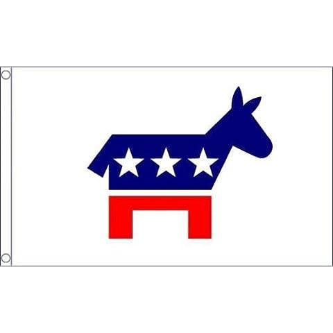 Carbossimetilazione Festa (USA) Stati Uniti America 1,5 m x3ft (150cm x 90cm) Bandiera + 59mm Spilla