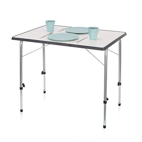 Campart Campingtisch/ Reisetisch - 80 x 60 cm wetterbeständige Rolltischfläche/ höhenverstellbar/ einfach auf- und zusammenklappbar, TA-0831 -