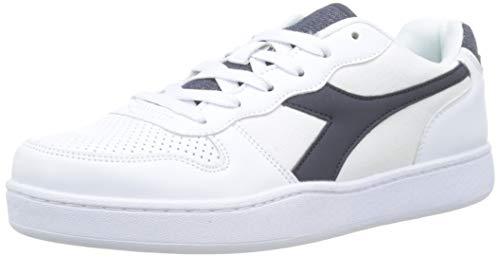 Diadora playground den, scarpe sportive uomo, bianco/blu denim c4656, 42 eu