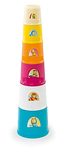 Smoby Toys, 110405, Cotoons Magic Tower, 6 Gobelets, 40 cm