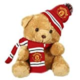 Manchester United Hat and Scarf Bear - 30cm - One Size Only