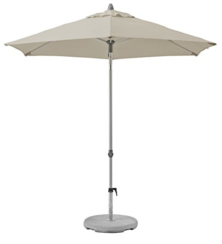 Suncomfort by Glatz Push up, off-grey, 250 cm rund, Gestell Aluminium, Bespannung Polyester, 4.6 kg