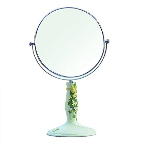 Zdumywu Wandspiegel Schönheit Vanity Spiegel Make-Up Desktop Dressing Spiegel Doppelseitige rotierenden Runden Harz High-Definition Tragbare Spiegel zu Fuß Stand