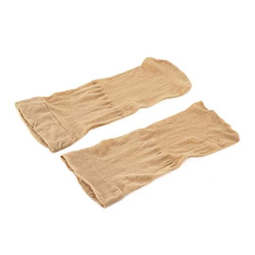 Fashion Stretchable 2 PCS für Männer Frauen Perücke Liner Net Herstellung Cap Snood Nylon Stretch Mesh Haarnetz-Zubehör (Nude)