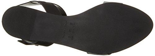 Shoe Biz Drapana, Sandali Donna Nero (vegetal Silver Black)