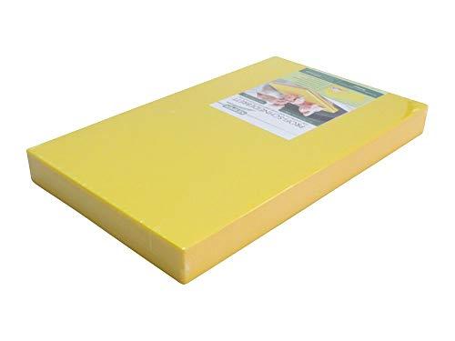 PE-Kunststoff-Schneidebrett GN 1/2 in gelb 50 mm stark HACCP-Konzept Gastronorm Schneidebrett Profi-Schneidbrett Kunststoff-Schneidbrett Schneideunterlage