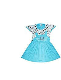 Feel Trendy Cotton Frock for Baby Girls(Pack of 1)