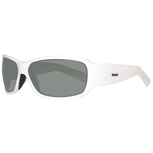 Timberland Herren TB9024-6621D Sonnenbrille, Weiß (White/Smoke Polarized), 66