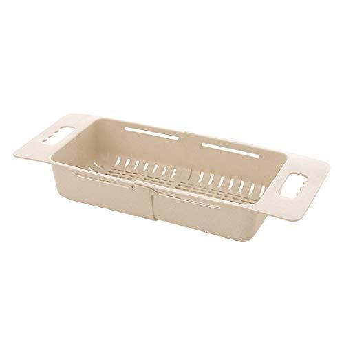 Weizenstroh Retractable Sink ablassen Gestell Geschirrspüler Küchen Pool Regal aushöhlen Obst Gemüse Stäbchen Speicher-Korb fgyhty -