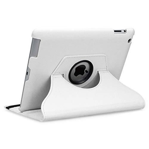 doupi Deluxe Schutzhülle für iPad 2 3 4, Smart Case Sleep/Wake Funktion 360 Grad drehbar Schutz Hülle Ständer Cover Tasche, weiß