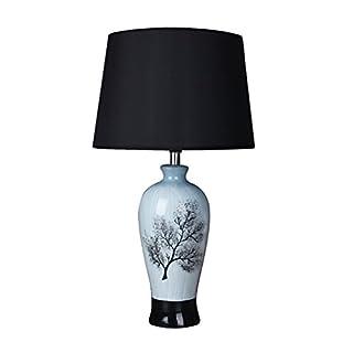 WYZ Kreative Lampe Keramik Tischlampe Retro Schlafzimmer Bedside Lampe Kreative Wohnzimmer Leuchten Lampenentwurf (Farbe : Blau, ausgabe : Dimmschalter)