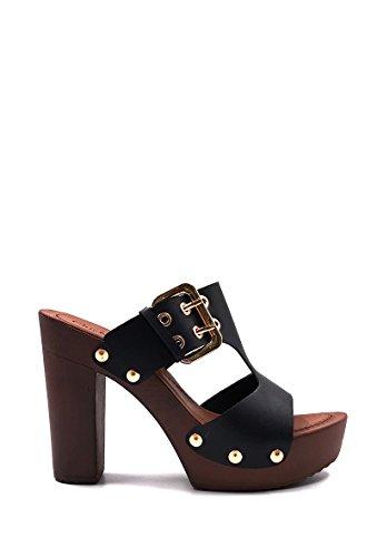 CHIC NANA . Chaussure Femme Mode Sandales sabot à talon.