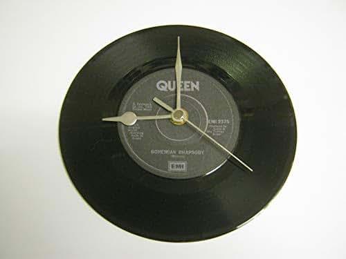 "Queen - Bohemian Rhapsody (B) - 7"" Vinyl Record Wall Clock"