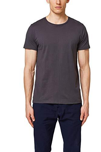 ESPRIT Herren 997EE2K819 T-Shirt, Grau (Dark Grey 020), M (Grau Herren T-shirt)