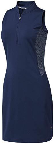 Adidas Shorts Mit Reißverschluss An Der Rückseite (adidas Damen Beyond18 Sleeveless Dress Kleid, Blau (Azul Navy Dq0499), Large)