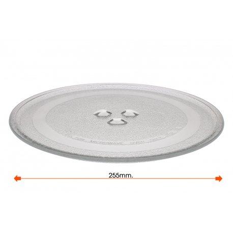 Mikrowellenteller Teller Drehteller Glasteller für Mikrowelle Durchmesser: 255 mm Balay Daewoo WG24214wg214a 3WG19X 3wh2126