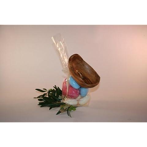 Porta sapone liquido a forma di coppa, in legno d