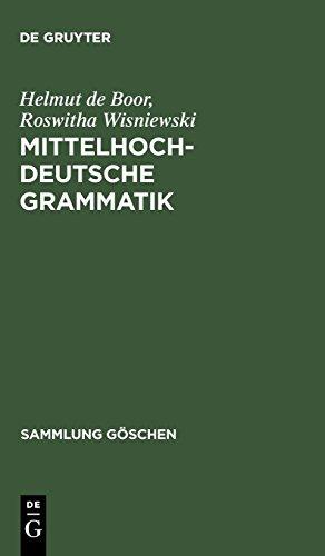 Mittelhochdeutsche Grammatik (Sammlung Göschen, Band 2209)