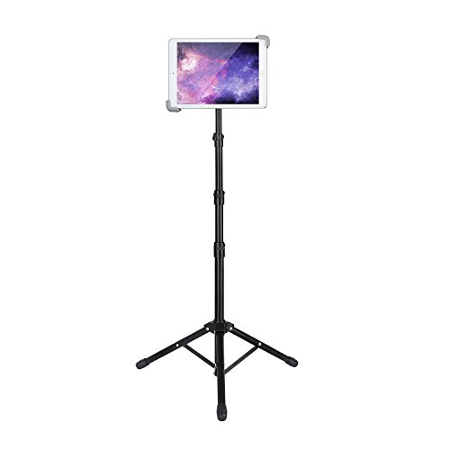 Elitehood Tablet Halterung Stativ iPad Ständer Verstellbar Höhe 55-166cm ipad  halterung für Apple iPad,iPad Air,Ipad pro,iPad Mini,Samsung Tablet,Lenovo Tablet (7.9-12 Zoll) (Verstellbare Rohr-halterung)