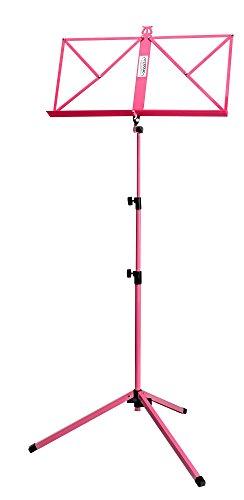 Classic Cantabile 100 Notenständer (mittelschwer, Seitenhalter, Metall) pink