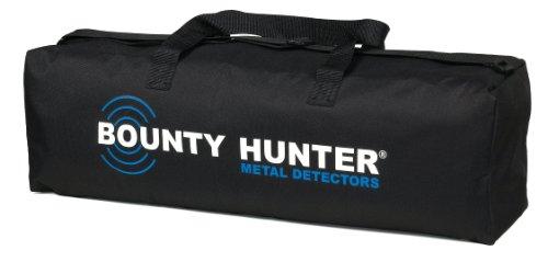 Bounty Hunter Metal Detector Metalldetektor-Tragetasche aus verstärktem Nylon mit Innen- und Außentaschen für alle Bounty Hunter Metalldetektoren, Schwarz -