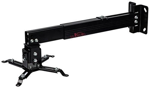 Luxburg® Set aus Universal-Deckenhalterung aus Aluminium, Für Projektoren, 43- 65cm,Trägt 15kg, 30Grad, Schwarz