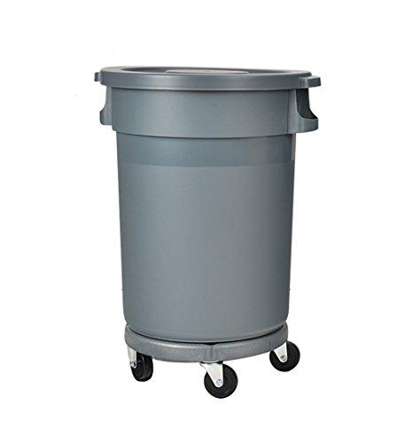 Im Freien Abdeckung (LiuJF-Waste Recycling Große Mülleimer, verdicken Rundplastik mit Abdeckung im Freien Eigentum drehte es kann Müll Schrott Umweltschutz 80-168L verschieben (Size : 120L))