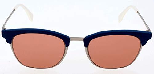 Fendi Herren FF 0228/S 4S J2B Sonnenbrille, Rot (Silver Red/Burgundy), 50