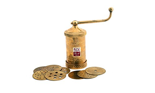 KCL Premium Brass Sev Sacha , Kitchen Press , Farshan Maker , Bhujia Maker  available at amazon for Rs.1499