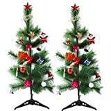 Creativity Creations Pack Of Two Christmas Pine Tree With Décor