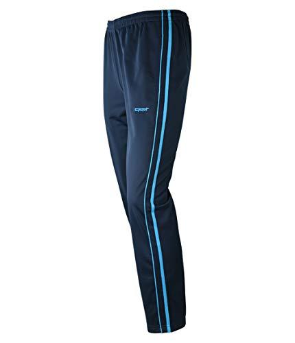 Soltice Mikrofaser Jogginghose, leichte Sporthose, Bequeme Freizeithose, M bis 3XL (L, Navy-Türkis)