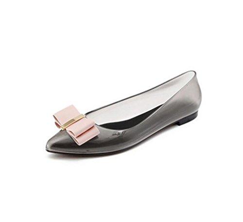 Frauenschuhe, Flache Schuhe, Rutschfeste Schuhe, Bogen flachen Mund niedrigen weichen Boden Anti-Fruit Gefrorene Schuhe (Farbe : B, größe : ()