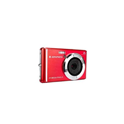 AGFA Photo - Kompakte Digitalkamera mit 21 Megapixel CMOS-Sensor, 8X Digitalzoom und LCD-Display Rot -