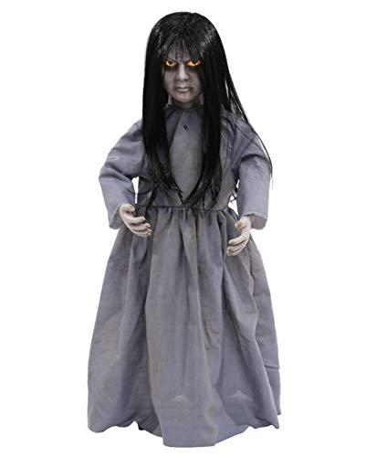 Horror-Shop Haunted Witch Doll Halloween Puppe mit Licht & Sound