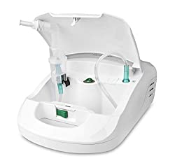 Medisana IN 550 Inhalator/Vernebler mit extra langem Schlauch (2m) - Inhalation bei Erkältungen oder Asthma - mit umfangreichem Zubehör und Zubehörfach- 54530