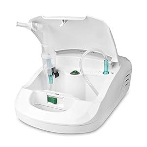 Medisana IN 550 Inhalator/Vernebler mit extra langem Schlauch (2m) – Inhalation bei Erkältungen oder Asthma – mit umfangreichem Zubehör und Zubehörfach- 54530