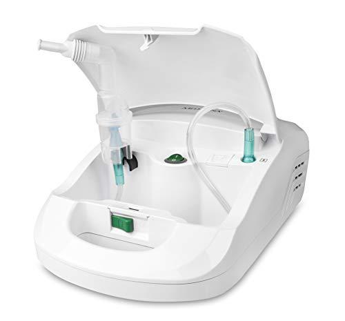 Medisana IN 550 Inhalator, Vernebler für Erwachsene und Kinder, Inhalation bei Erkältungen oder Asthma mit extra langem Schlauch und Zubehörfach