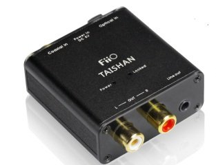 Digital to Analog Audio Converter - 192kHz/24bit Optical and Coaxial DAC SPDIF - TOSlink / Coaxial to Stereo Left/Right RCA - FiiO D03K Taishan
