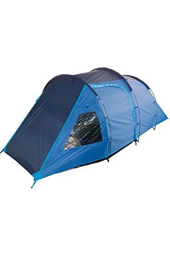 Mountain Warehouse Mini Break 4-Personen-Zelt Erwachsener Jugendliche Familie Festival Camping Blau